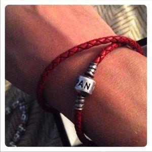 Pandora Red Leather